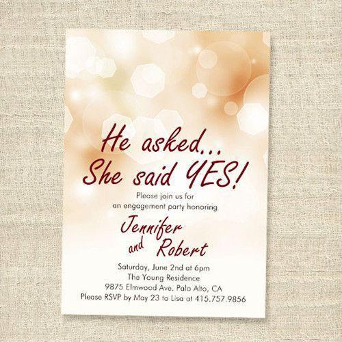 Engagement Invitation Card - View Specifications & Details of ...