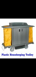 Plastic House Keeping Trolley
