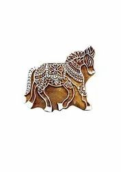 Fancy Handicraft Wooden Printing Stamp Block Hand-Carved for Textile Printing