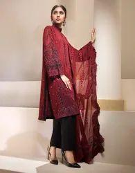 Chiffon Party wear Pakistani Resham Ghar Luxury Suits