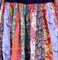 Cotton Patchwork Long Skirt
