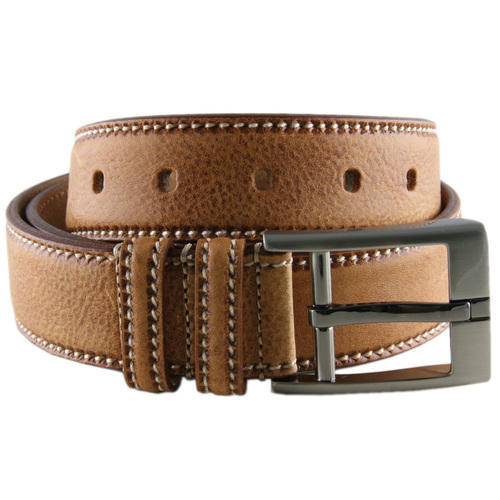Ambur Glow Leather Brown Designer Leather Belt