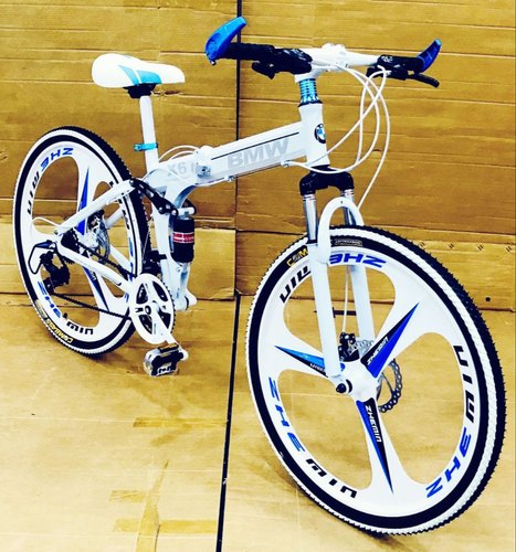 Bmw Bicycle >> Bmw Foldable Cycle With 21 Shimano Gears White