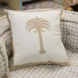 Palm Tree Embroidery Cushion Cover