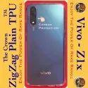 Blue Silicon Vivo Transparent Mobile Back Cover