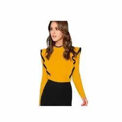 Mustard Nixx Ladies Partywear Top, Packaging Type: Packet