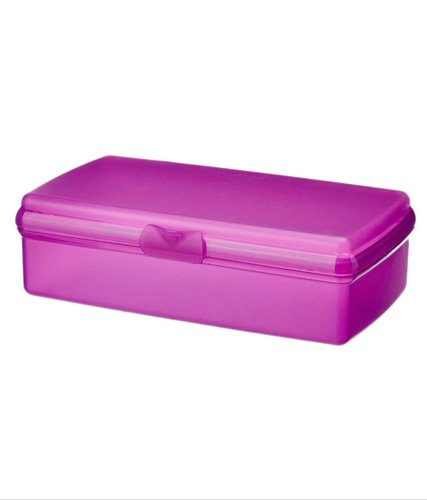 Pink Plastic Launch Box, Capacity: 300ml, Shape: Rectangular