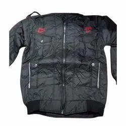 Full Sleeves Casual Wear Mens Black Plain Jacket, Size: L