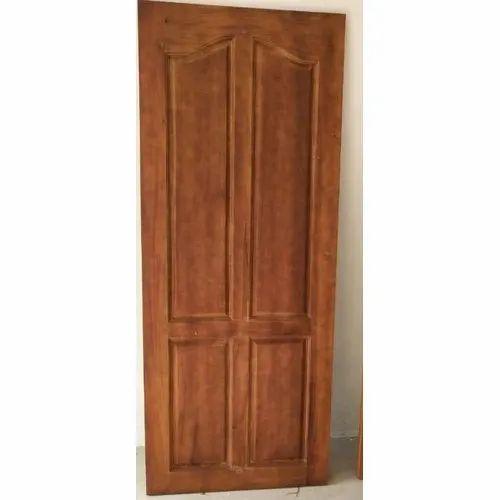 Interior Polished Wooden Bedroom Door Rs 4900 Unit Sri Vinayaga Timber Wood Works Id 19072889462