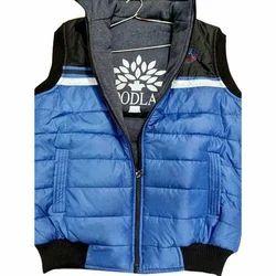 Mens Sleeveless Black and Blue Reversible Jacket