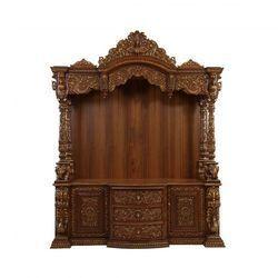 Antique teak wood temple