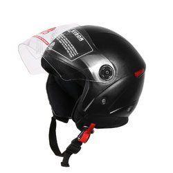 Fiberglass Black Grand Open Face Helmet, Size: M