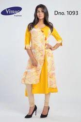 Yellow & White Kurti