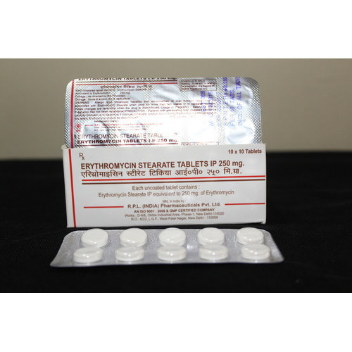 Erythromycin Stearate Tablets IP, 10x 10 Capsules ,Packaging Type: Box,Strip