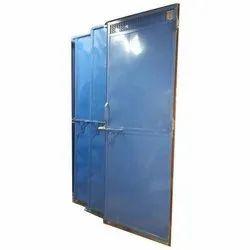 Blue Polished Mild Steel Single Door, For Home