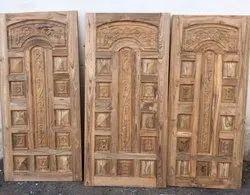 Sagwan Wood Designer Single Door
