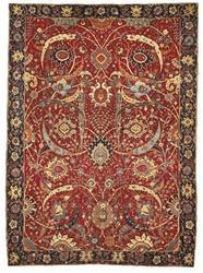 Hand Knotted Woolen Antique Rug