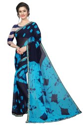 Printed Work Party Wear Chiffon Saree, Length: 6.3 m (With Blouse Piece)