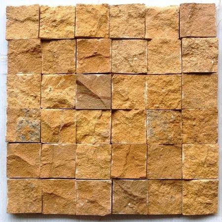 Jaisalmer Yellow Sandstone Wall Cladding Mosaic Tile At Rs 130