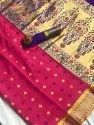 Indiavtaar Party Wear Silk Saree, 6.3 M (with Blouse Piece)