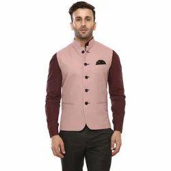 Party Wear 36 And 38 Mens Plain Kurta Pajama With Nehru Jacket