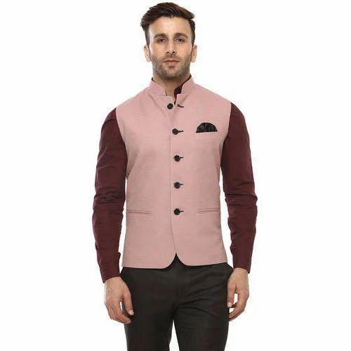bbba735e03 Party Wear 36 And 38 Mens Plain Kurta Pajama With Nehru Jacket, Rs ...