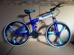 Blue And White BMW Foldable Cycle