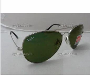 RB 3026 Goldenrod Silver Frame Sunglasses