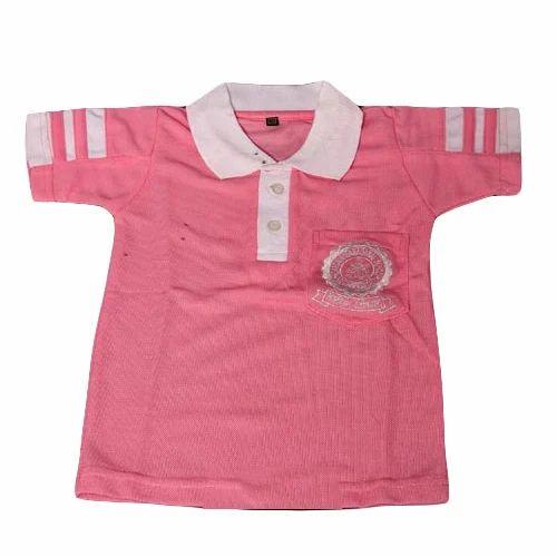 8baf6c0c Cotton Kids Pink Uniform Polo T-Shirt, Rs 105 /piece, HL Industries ...