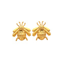 Bug Bee Elegant Superb Earring Stud Micron Gold Plated Jewelry Stud