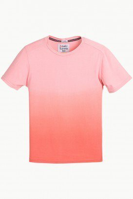 e923b7b048ac Mens t shirt - Peach Casual Ombre Dyed T Shirt Ecommerce Shop ...