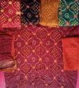 Satin Bandhani Unstitched Salwar Suit