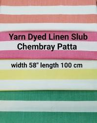 Yarn Dyed Linen Slub Chambray Patta