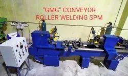Mild Steel Conveyor Roller welding machine, For Industrial, Automation Grade: Semi-Automatic
