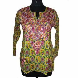 Cotton Full Sleeve Printed Ladies Top