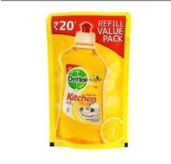 Dettol Dish Wash Liquid 130ml, Packaging Type: Pouch