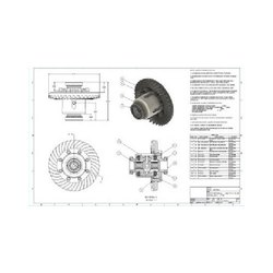 2D Drafting Mechanical Parts Service