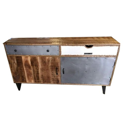Brown Satyam International Mango Rough Wood Buffet