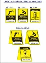 Covid - 19 / Corona Safety Message Stickers