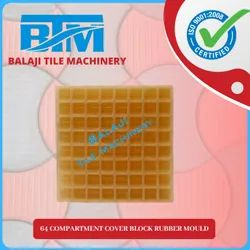 64 Compartment Cover Block Rubber Mould
