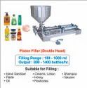Jam Filling Machine (Double Head) / Piston Filler For Liquid, Oil, Shampoo, Honey, Cream, Paste