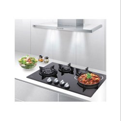 Black Toughened Glass (glass Top) 4 Burner Glass Stove