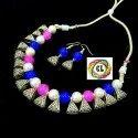 CL jewellery Oxidized Loop German silver women's jewelry Party Necklace Set