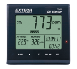 Extech Desktop Indoor Air Quality CO2 Monitor, Accuracy: +-75 Ppm