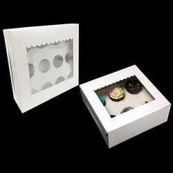 5SP 12 Cupcake Special White Box With Window & Insert