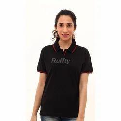 Cotton Plain Ladies T Shirt, Size: XL