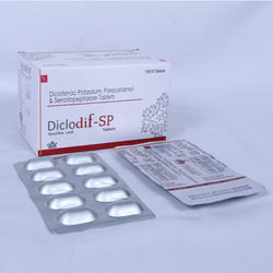 Diclofenoc Potassium Paracetamol And Serratiopeptidase Tablets