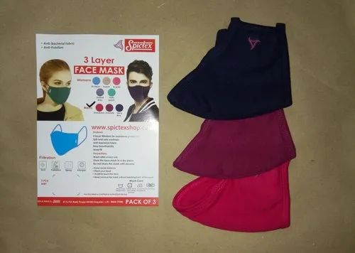 SPICTEX Reusable Bio-Safe Surgical Mask, Certification: Soft Ans Safe Ear Loops, Number of Layers: 3