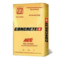 ACC Concrete Plus PPC Cement, Packaging Size: 50 kg, Packaging Type: PP Sack Bag