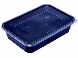 Black Food Container 500ml Microwave Safe